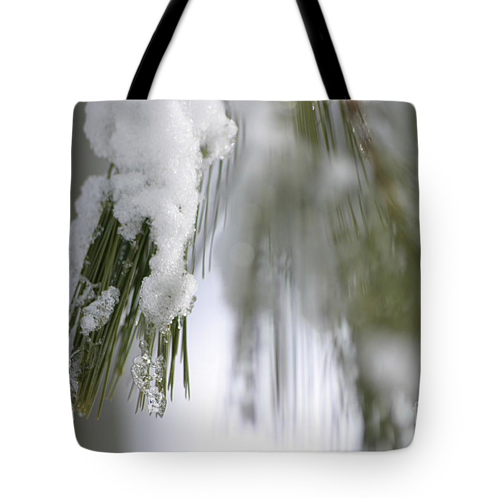 Ice Tote Bag featuring the photograph Soft Ice by Living Color Photography Lorraine Lynch