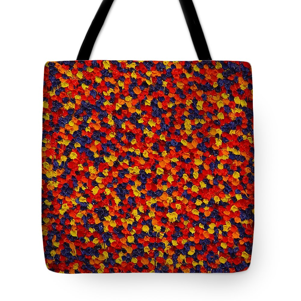Abstract Tote Bag featuring the painting Soft Primary by Dean Triolo