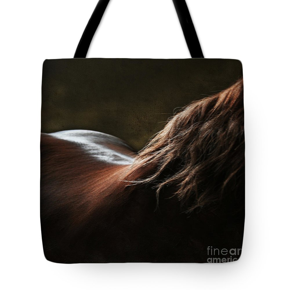 Horse Tote Bag featuring the photograph Soft Shapes by Angel Ciesniarska