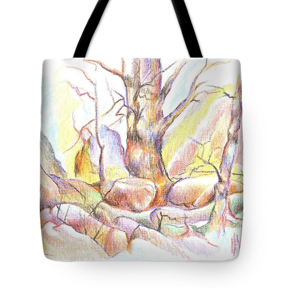 Softly Speaking Tote Bag featuring the painting Softly Speaking by Kip DeVore