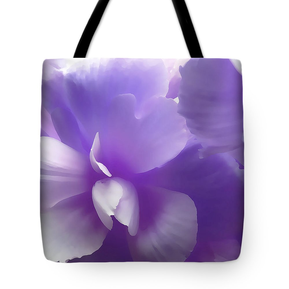 Begonia Tote Bag featuring the photograph Softness Of Purple Begonias by Jennie Marie Schell