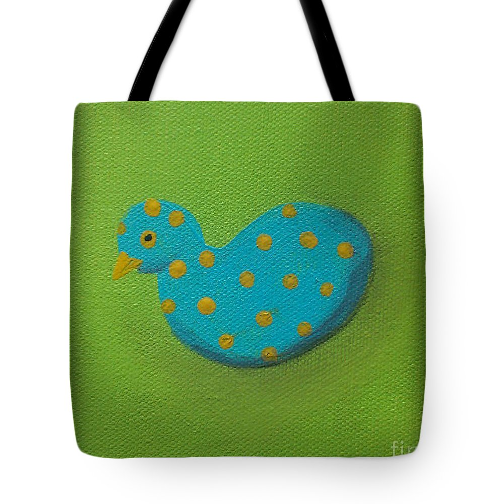 Polka Tote Bag featuring the painting Sol by Georgia Griffin