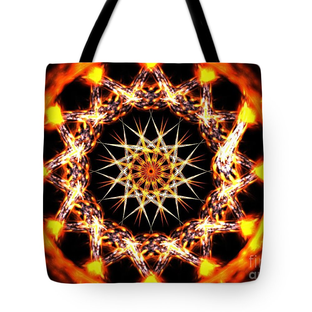 Apophysis Tote Bag featuring the digital art Solar Alignment by Kim Sy Ok