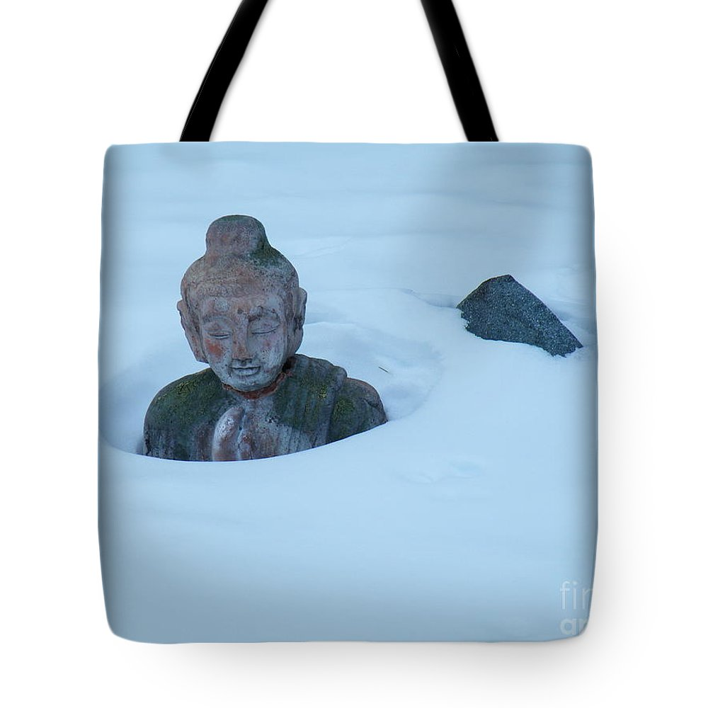 Solar Tote Bag featuring the photograph Solar Powered Dharmic Snow Remover by Brian Boyle