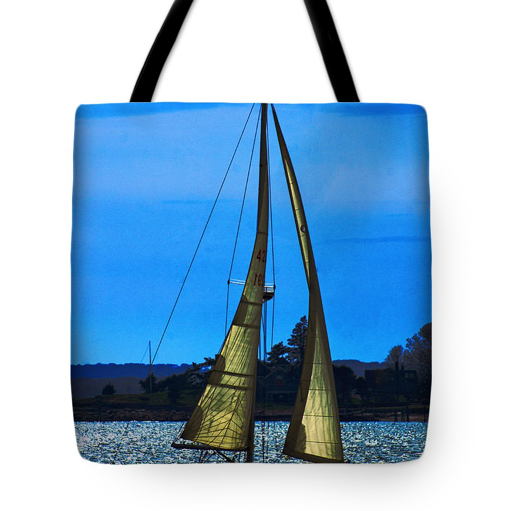 Boat Tote Bag featuring the photograph Solar Sail by Joe Geraci