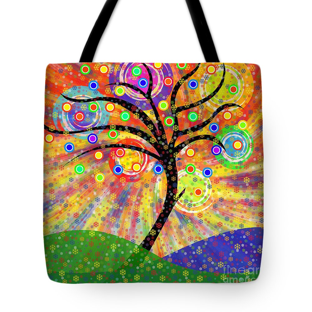 Autumn Tote Bag featuring the painting Solar Tree by Neil Finnemore