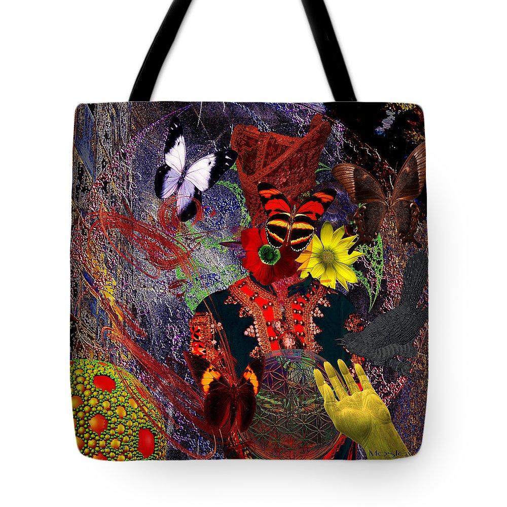 Earth Tote Bag featuring the digital art Solar Wisdom by Joseph Mosley