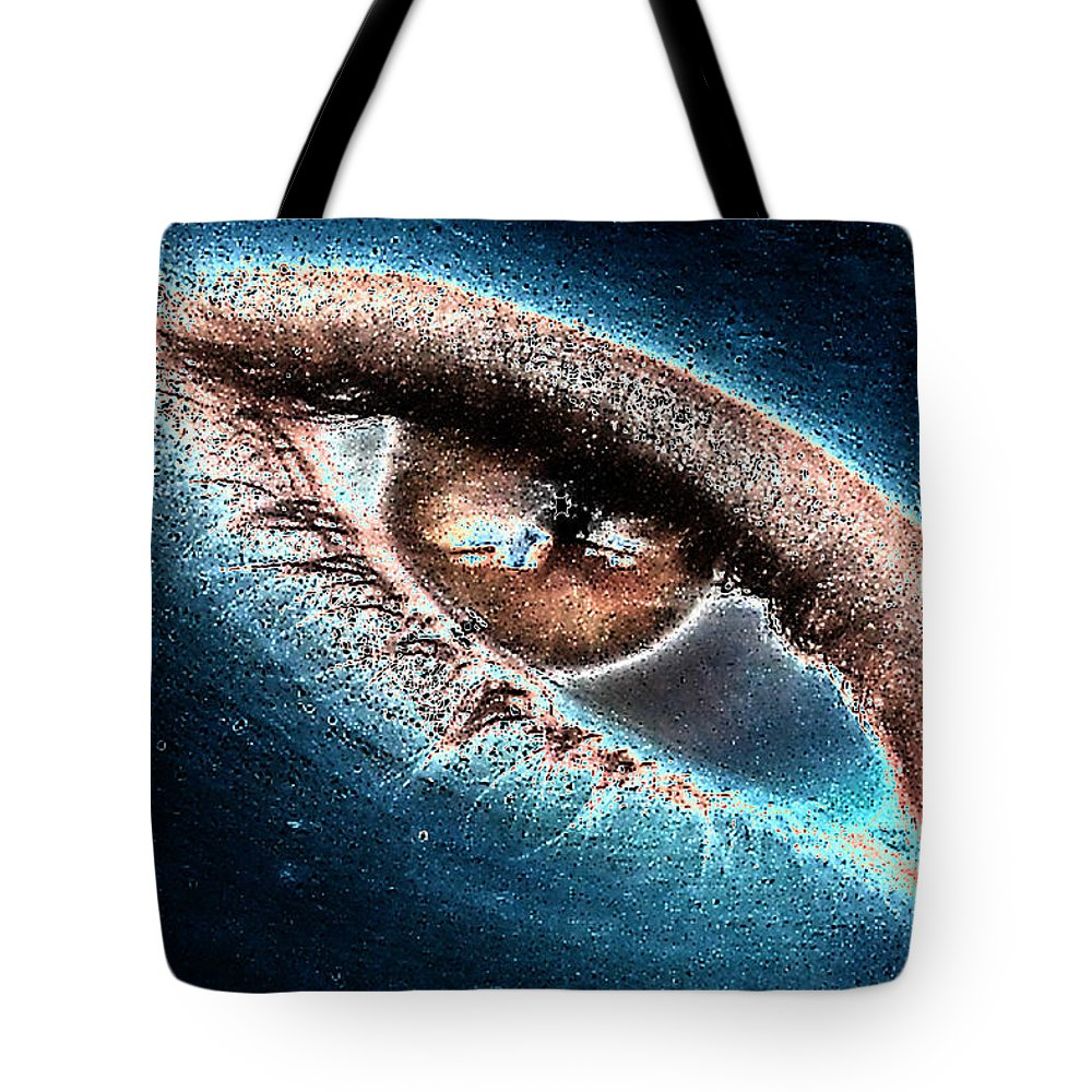 Solar System Tote Bag featuring the photograph Solareyez by Sennie Pierson