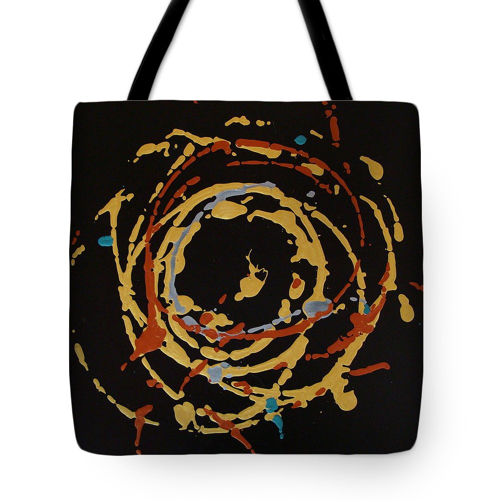 Abstract Tote Bag featuring the painting Solaris by Holly Picano
