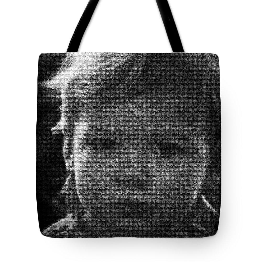 Hair Tote Bag featuring the photograph Solemn Eyes by Deborah Klubertanz