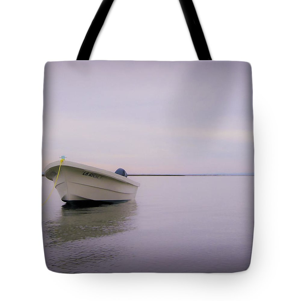 3scape Photos Tote Bag featuring the photograph Solitary Boat by Adam Romanowicz