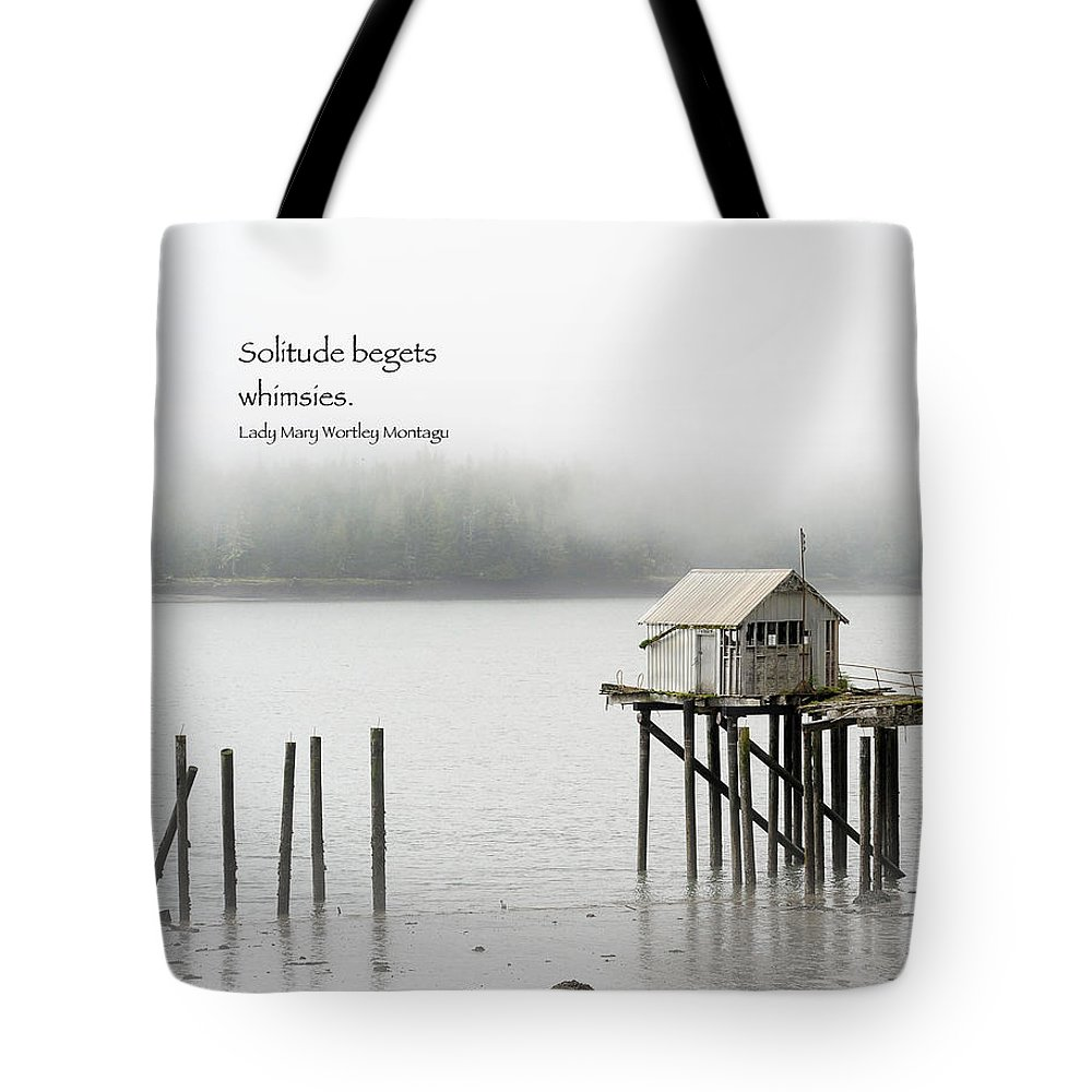 Landscapes Tote Bag featuring the photograph Solitude Begets Whimsies by Mary Lee Dereske