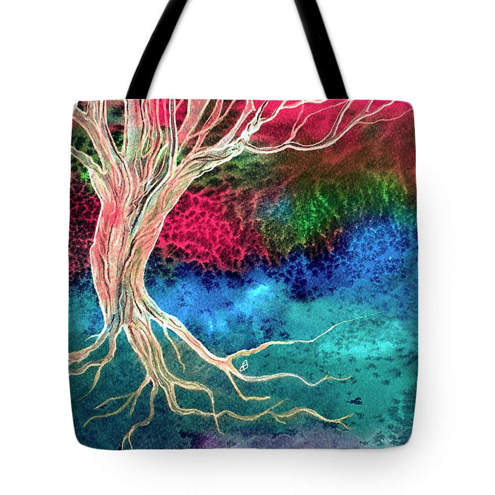 Landscape Tote Bag featuring the painting Solitude by Brenda Owen