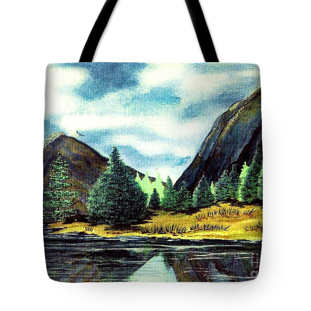 Fine Art Tote Bag featuring the painting Solitude by Patricia Griffin Brett
