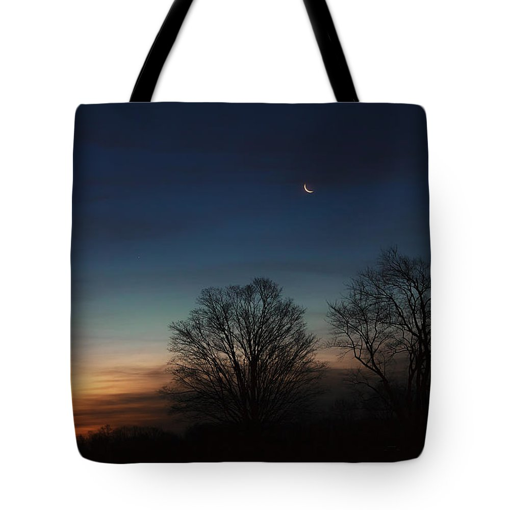 Moon Tote Bag featuring the photograph Solstice Moon by Bill Wakeley