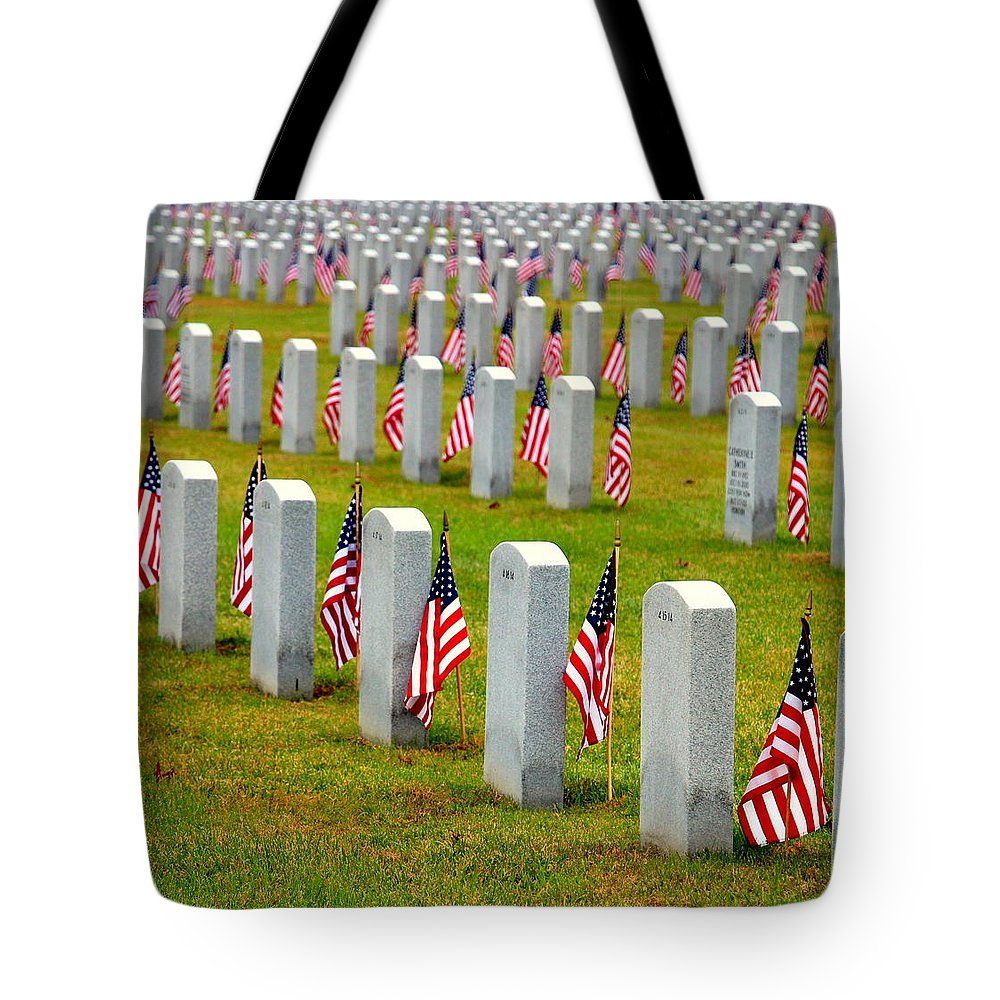 Celebrating And Remembering Veteran's Day Tote Bag featuring the photograph Some Gave All by Shannon Louder