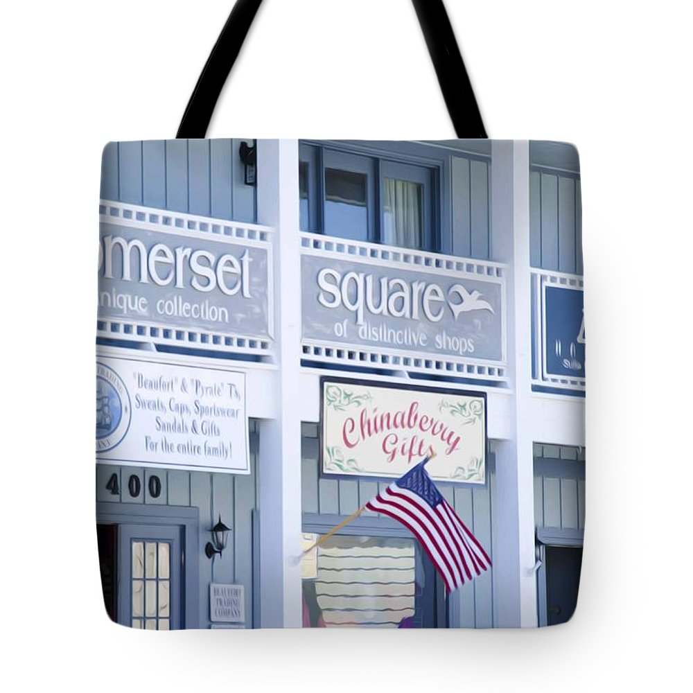 Somerset Tote Bag featuring the painting Somerset Square 1 by Jeelan Clark