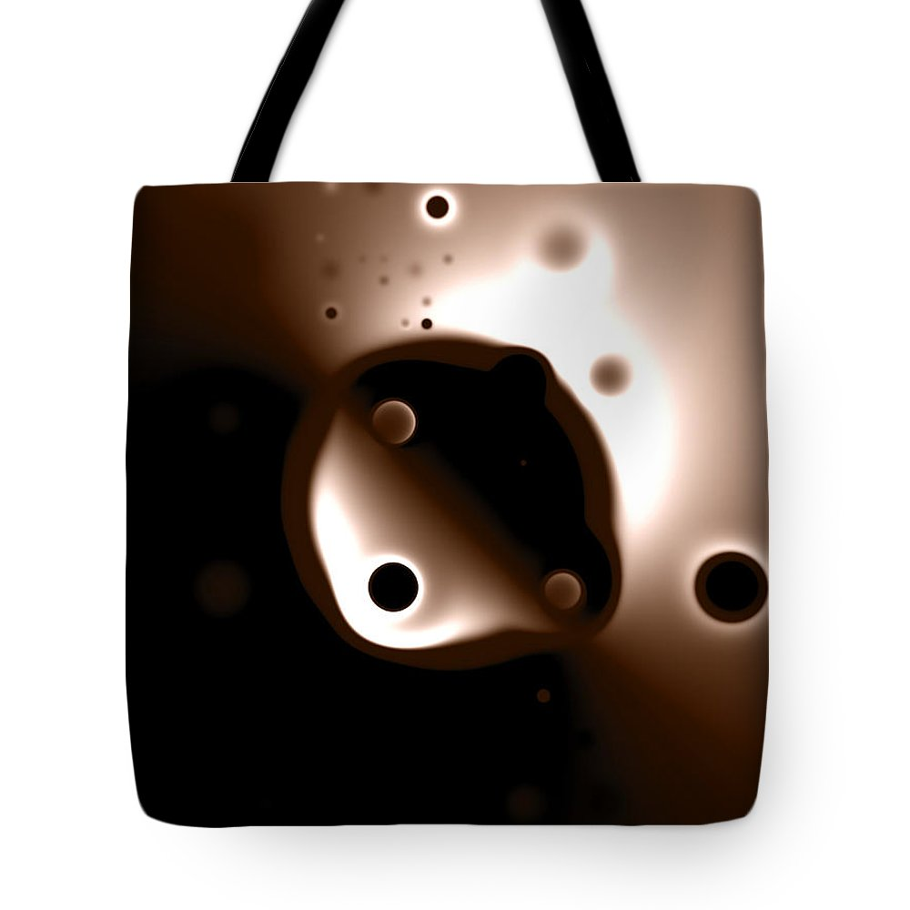 Something Tote Bag featuring the digital art Something Strange In Orbit by Brian Kenney