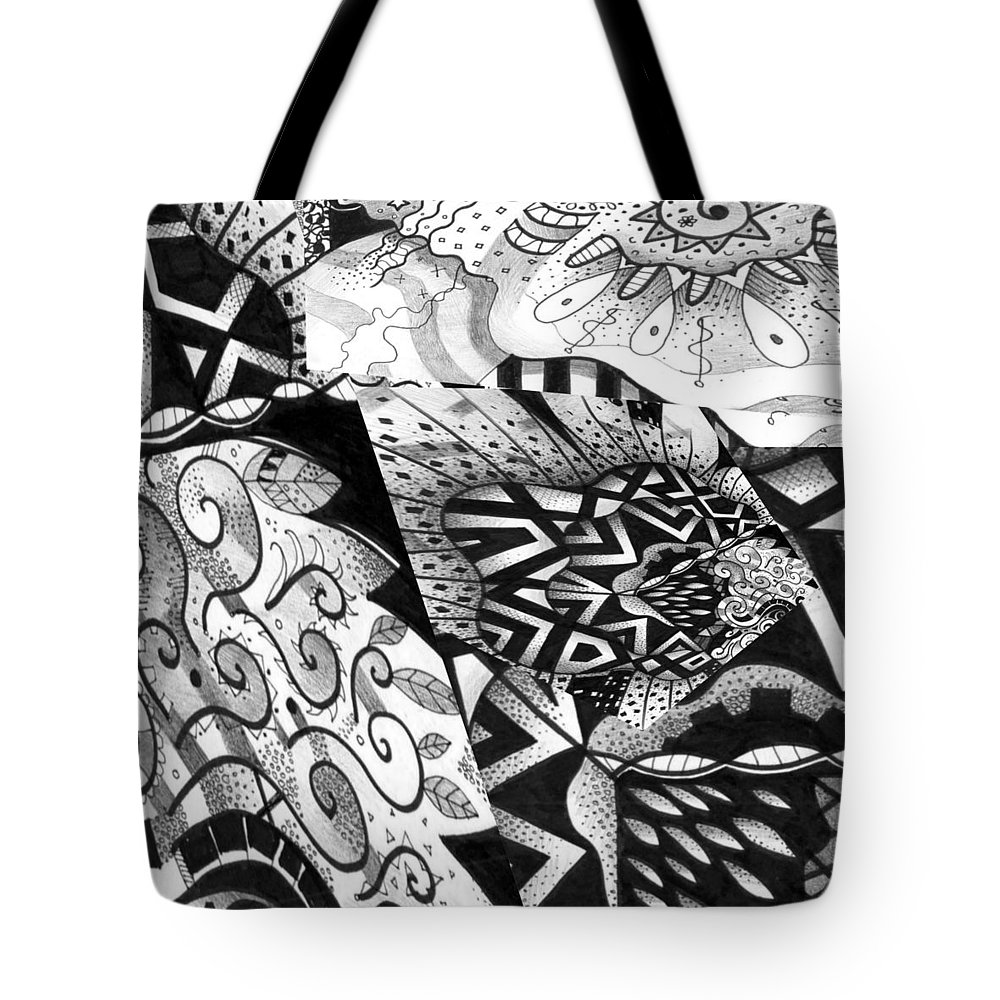 Abstract Tote Bag featuring the digital art Sometimes A Mystery by Helena Tiainen