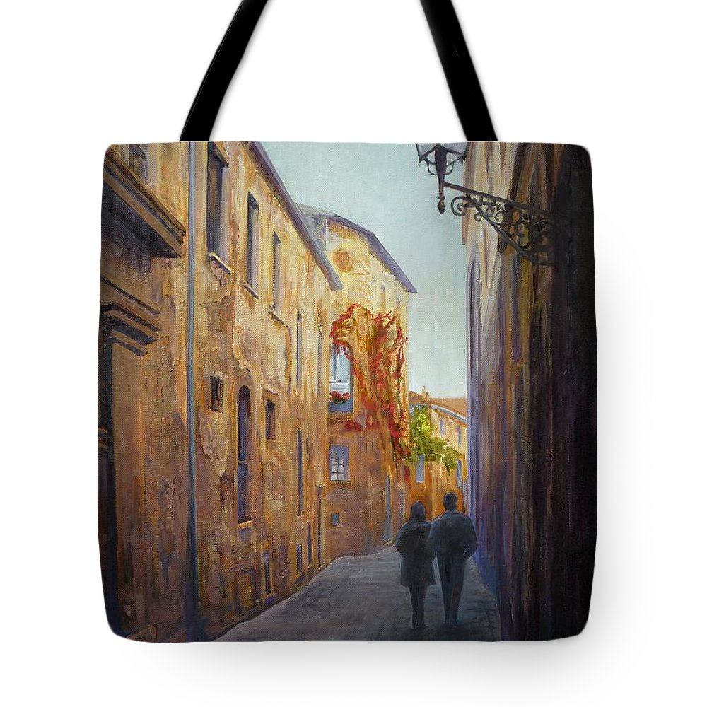Urban Tote Bag featuring the painting Somewhere In Time by Sharon Weaver