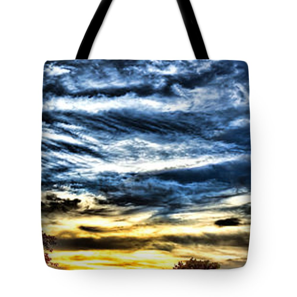 Sunset Tote Bag featuring the photograph Somewhere On Earth by Olivier Le Queinec