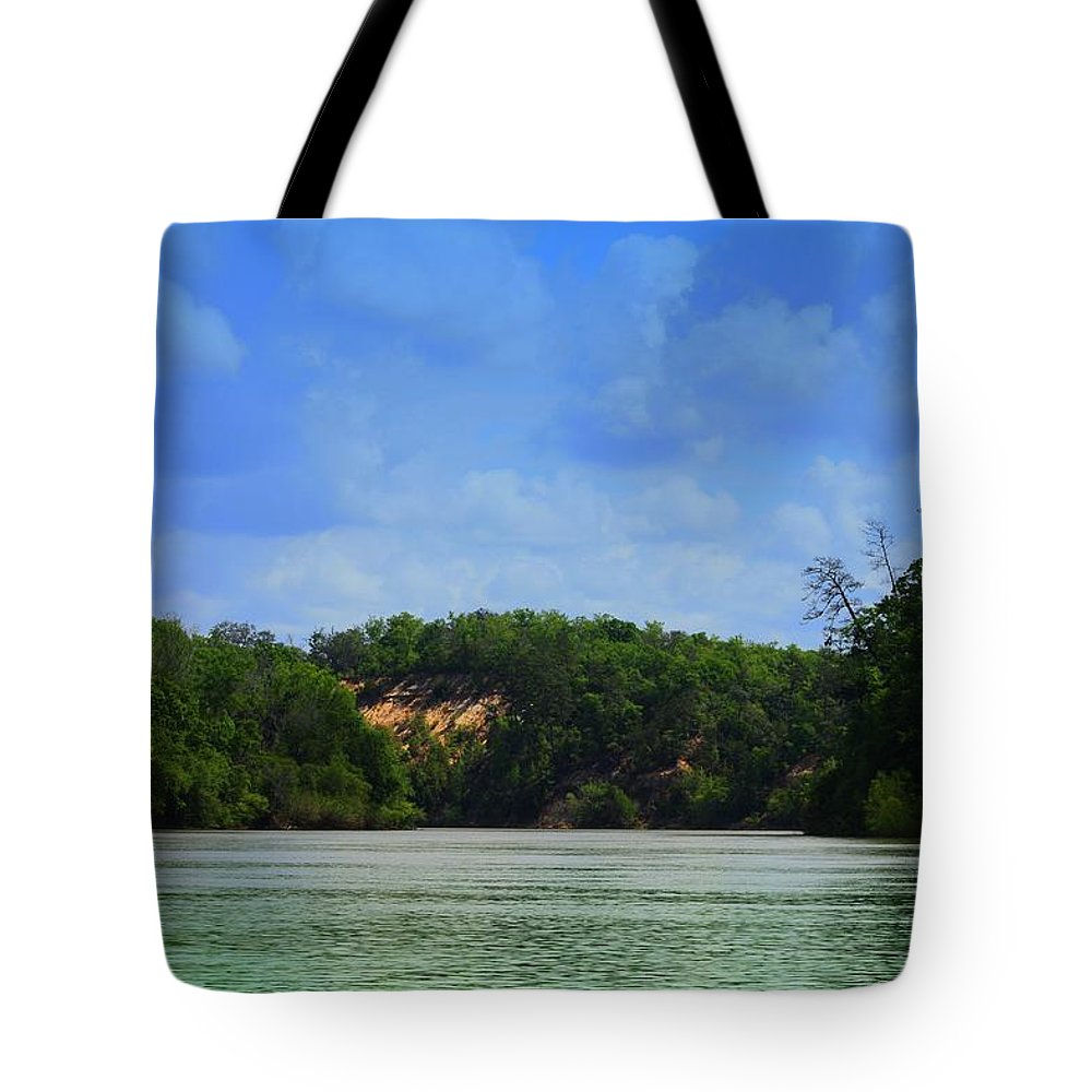 Apilachacola Tote Bag featuring the photograph Somewhere On The River by Debra Forand