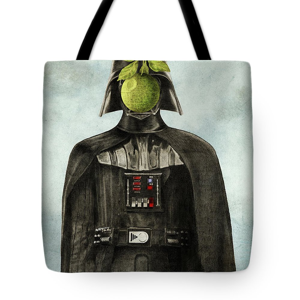 Magritte Tote Bag featuring the drawing Son Of Darkness by Eric Fan