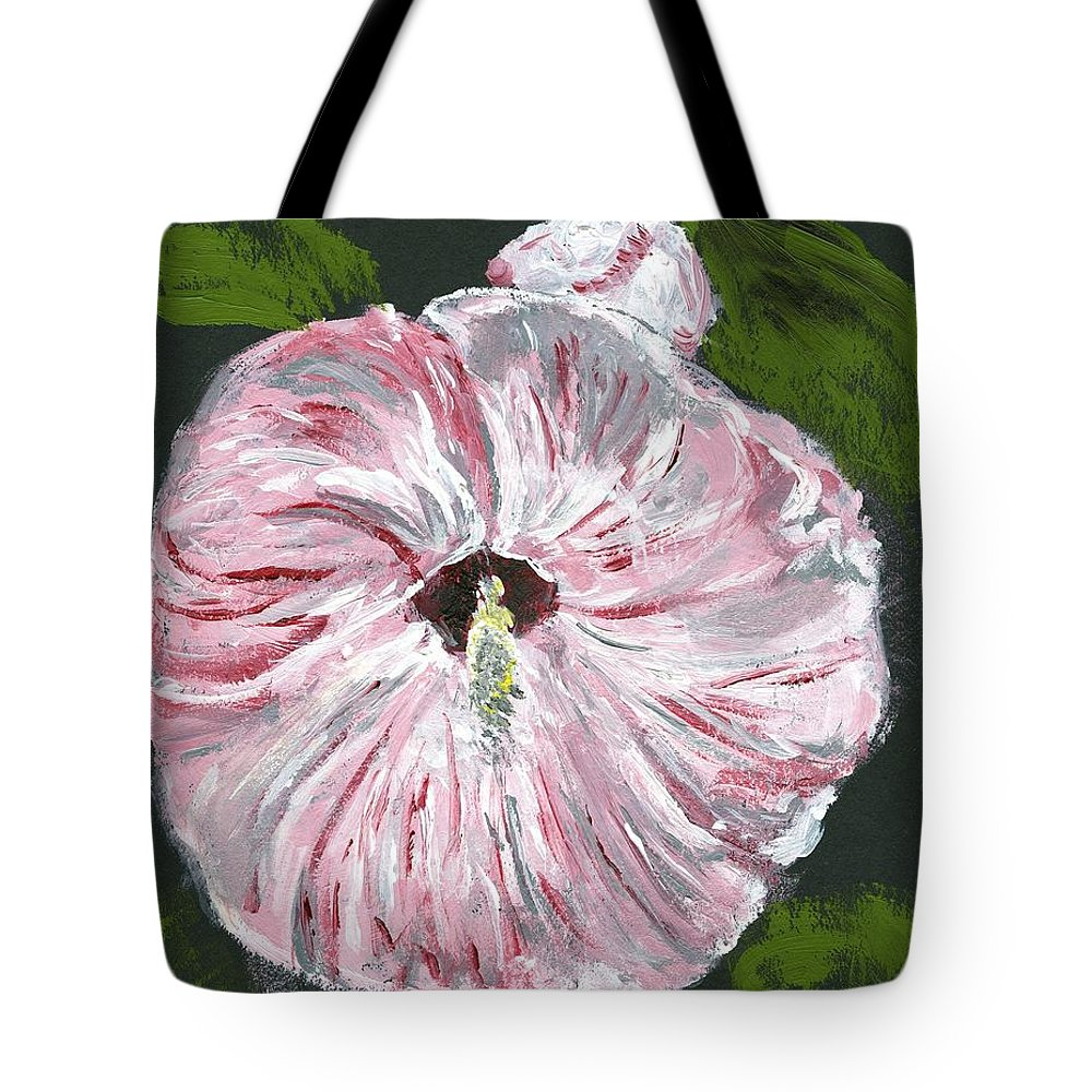 Hibiscus Tote Bag featuring the painting Son Of A Flower by Alice Faber