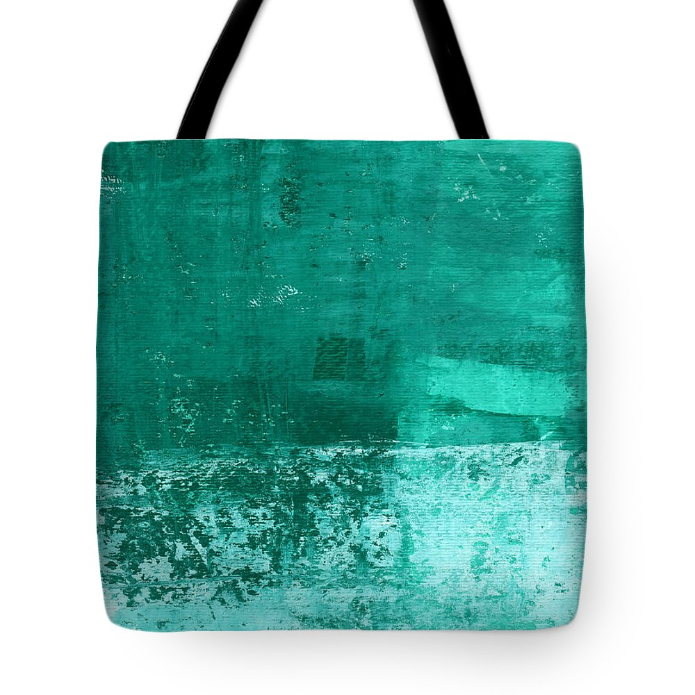 Abstract Art Tote Bag featuring the painting Soothing Sea - Abstract Painting by Linda Woods