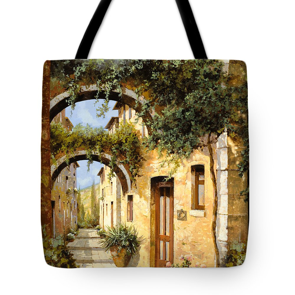 Arch Tote Bag featuring the painting Sotto Gli Archi by Guido Borelli