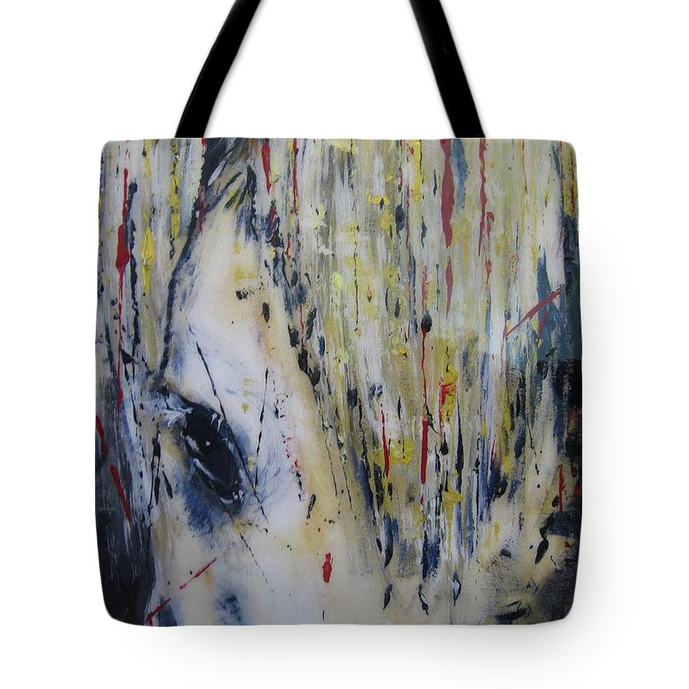 Horse Tote Bag featuring the painting Soul Mare by Lucy Matta