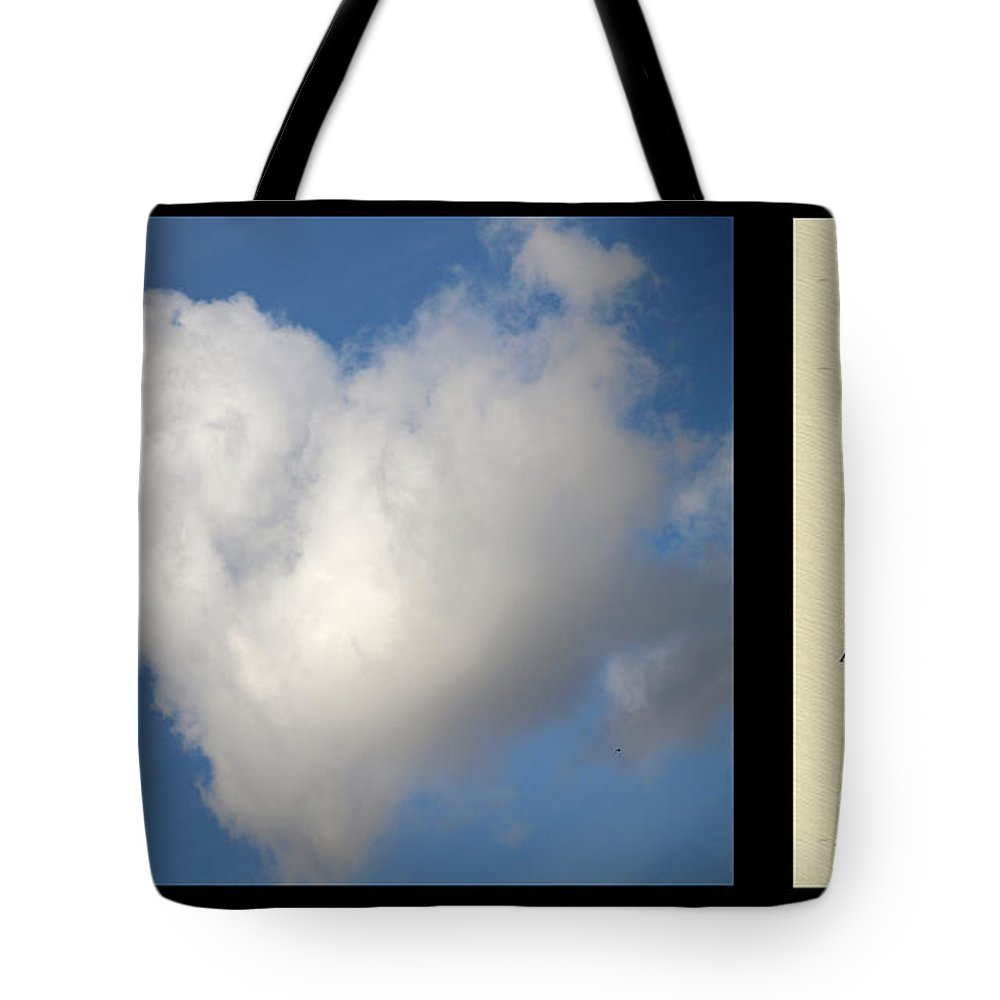 Heart Tote Bag featuring the photograph Soul Mate With Poetry by Jessica Foster