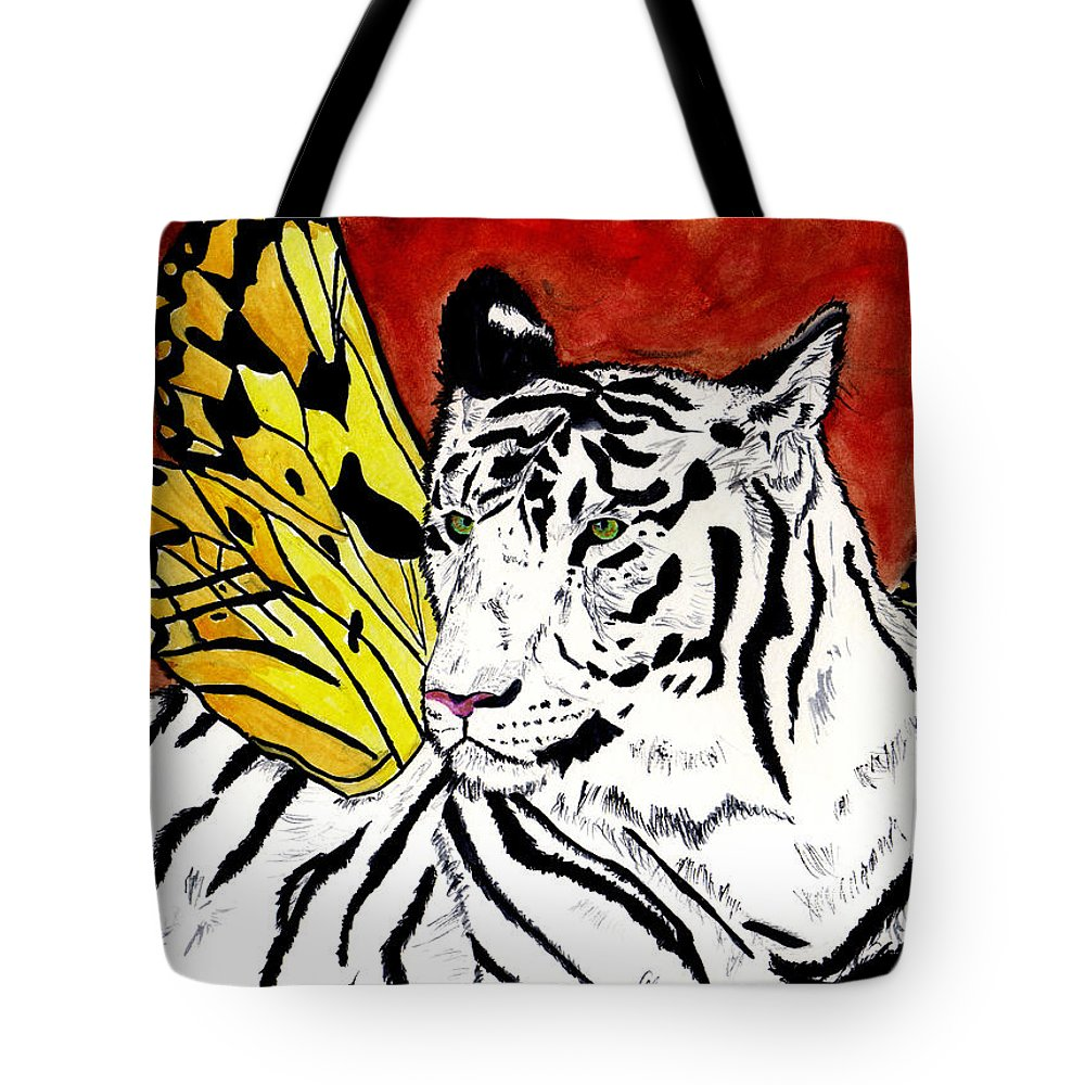 Tiger Tote Bag featuring the painting Soul Rhapsody by Crystal Hubbard