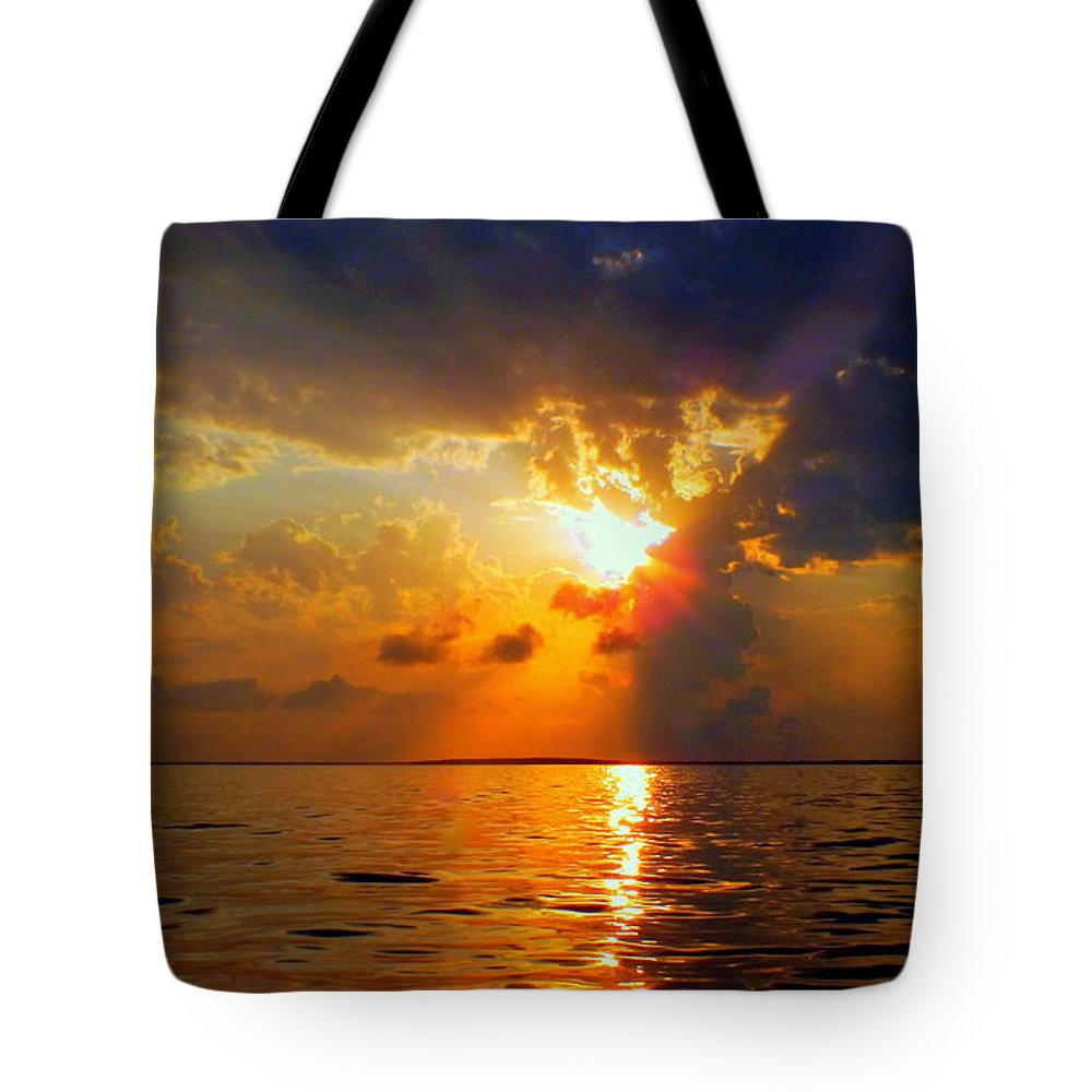 Sunsets Tote Bag featuring the photograph Sounds Of Silence by Karen Wiles