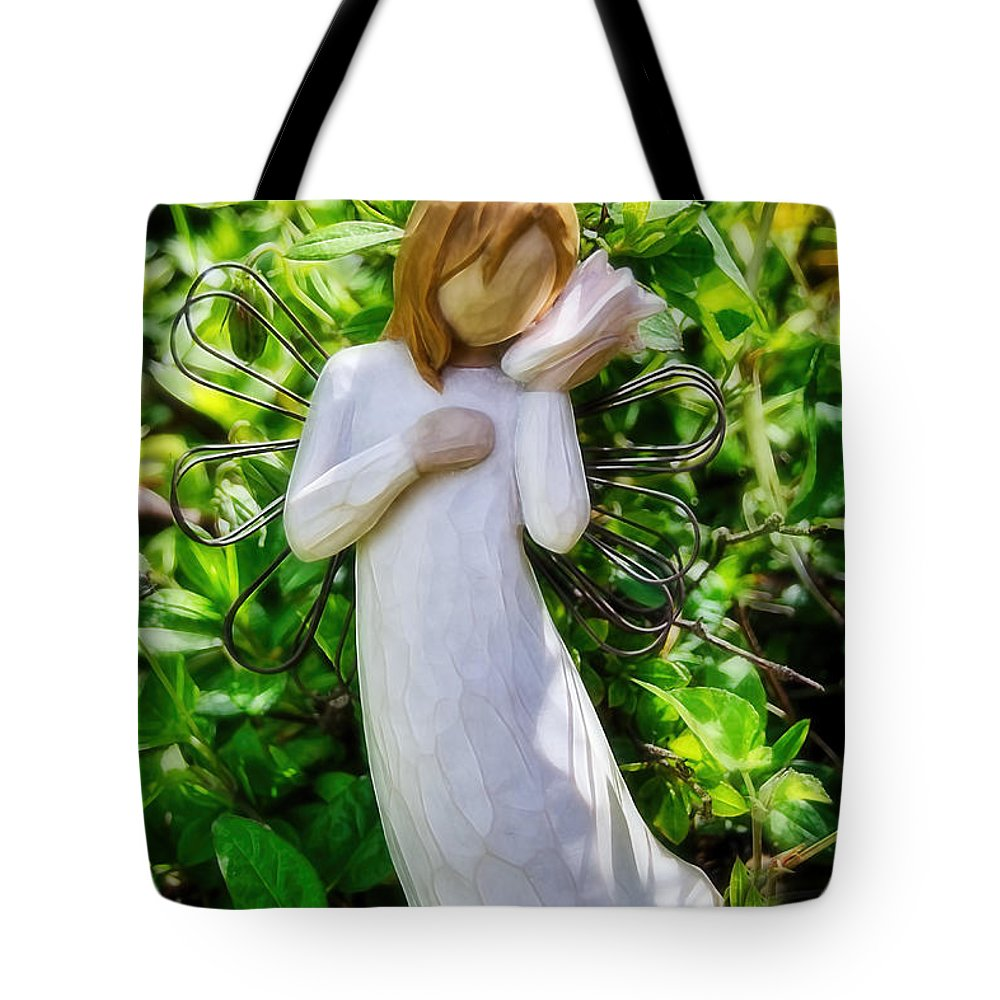 Angel Tote Bag featuring the photograph Sounds Of The Ocean by Susie Peek