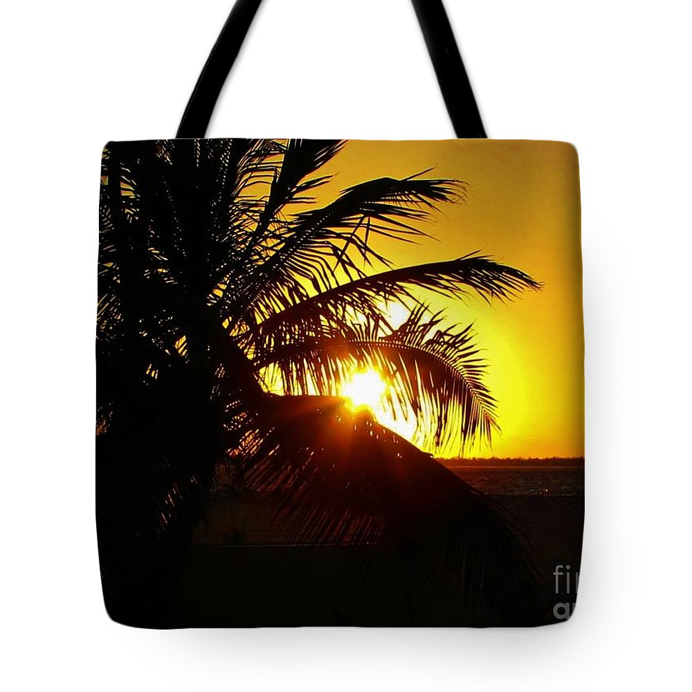 Keri West Tote Bag featuring the photograph Sour Sunset by Keri West