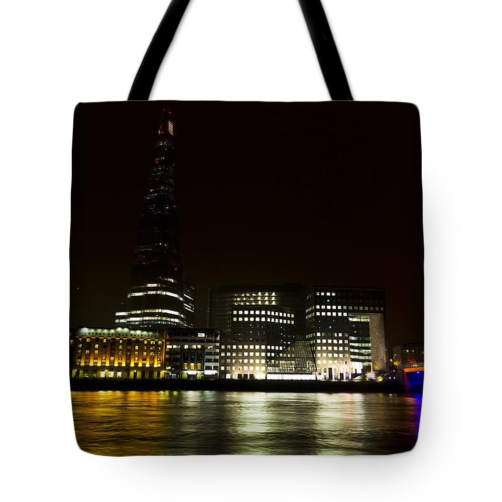 The Shard Tote Bag featuring the photograph South Bank London by David Pyatt