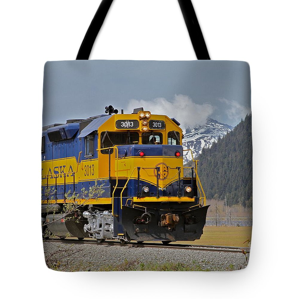 Train Tote Bag featuring the photograph South Bound by Rick Monyahan