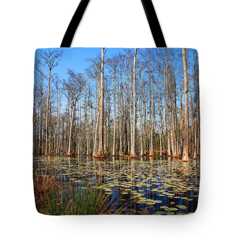 Photography Tote Bag featuring the photograph South Carolina Swamps by Susanne Van Hulst
