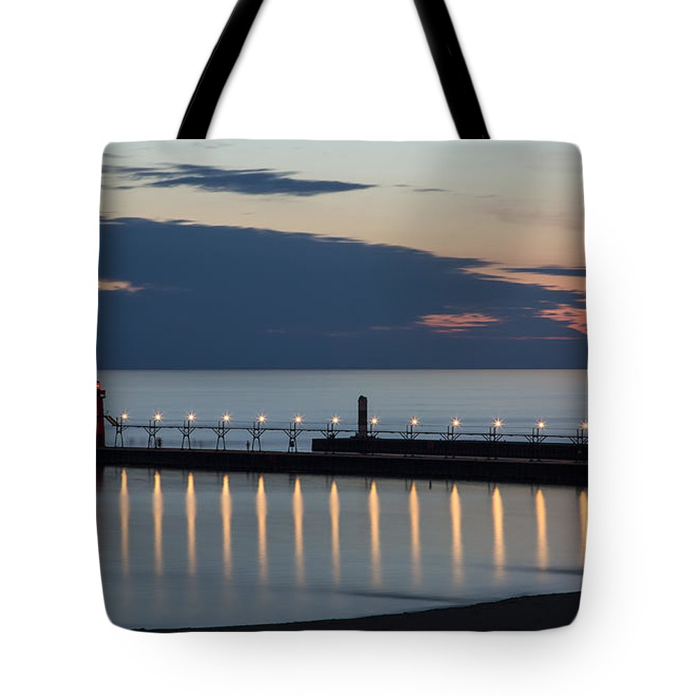 3scape Photos Tote Bag featuring the photograph South Haven Michigan Lighthouse by Adam Romanowicz