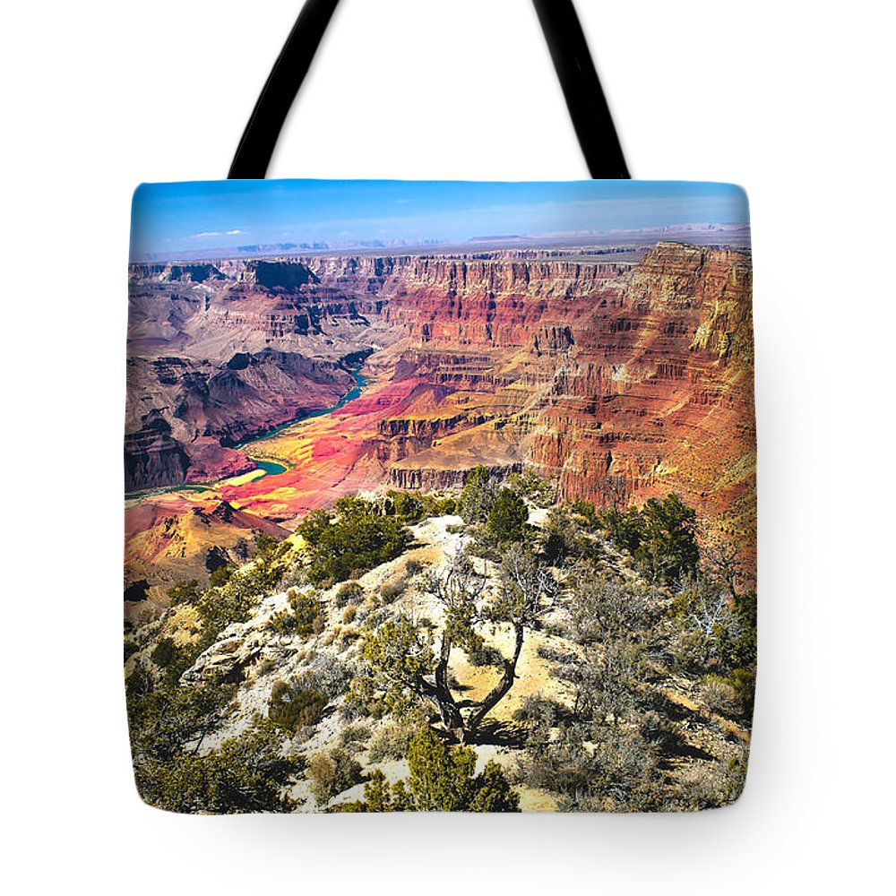 Grand Canyon Tote Bag featuring the photograph South Rim From The Butte by Robert Bales