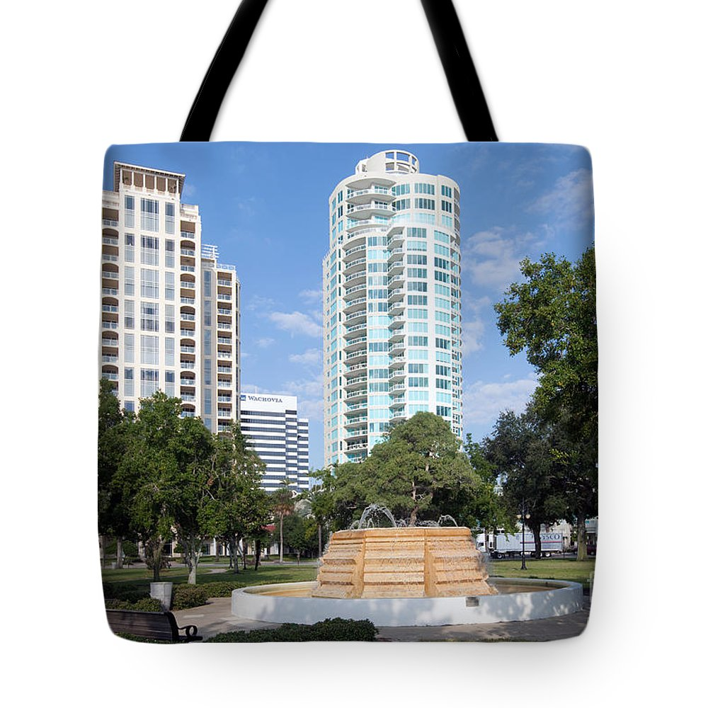 Florida Tote Bag featuring the photograph South Straub Park St Petersburg Florida by Bill Cobb