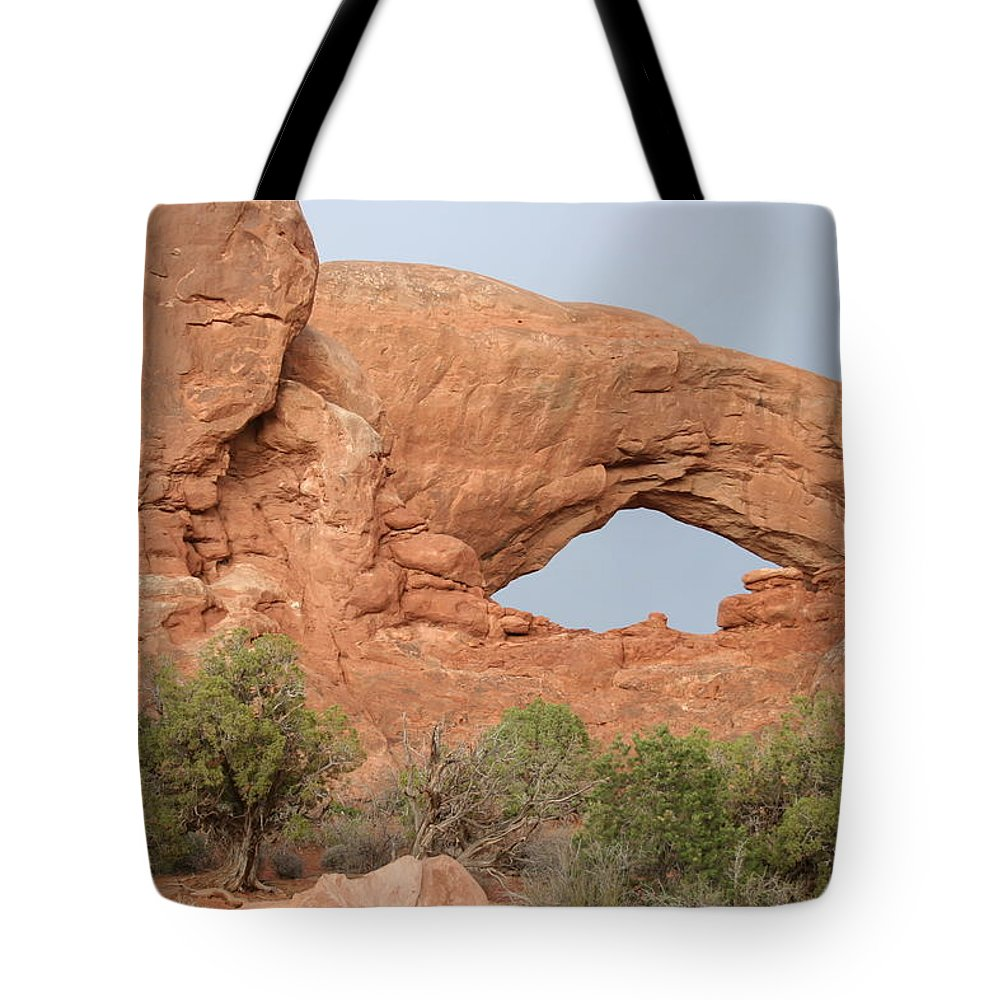 South Window Tote Bag featuring the photograph South Window Arches National Park by Christiane Schulze Art And Photography