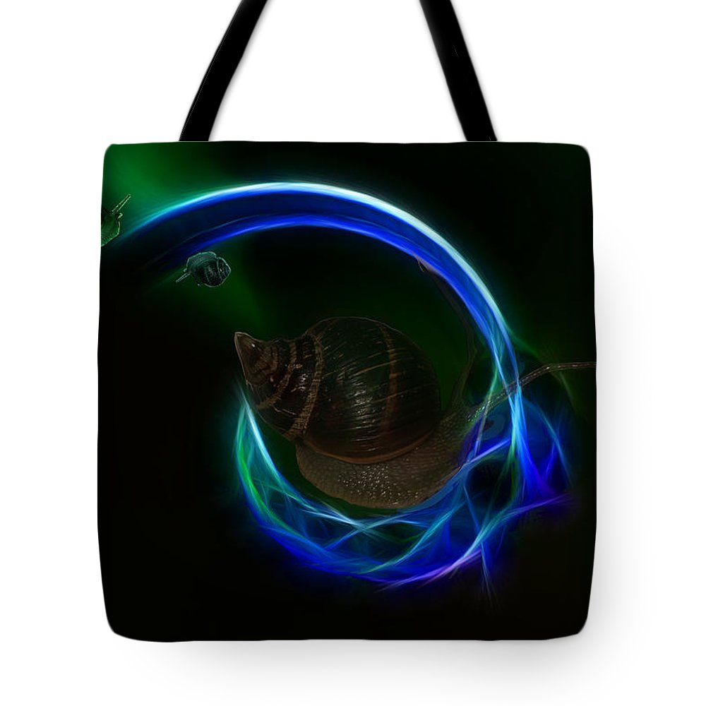 Southern Tote Bag featuring the digital art Southern Northern Lights by Angela Stanton