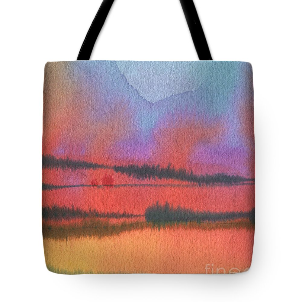 Landscape Tote Bag featuring the painting Southland by Donald Maier