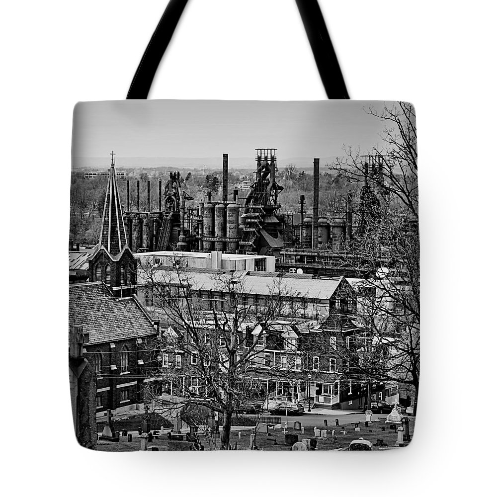 Bethlehem Tote Bag featuring the photograph Southside by DJ Florek
