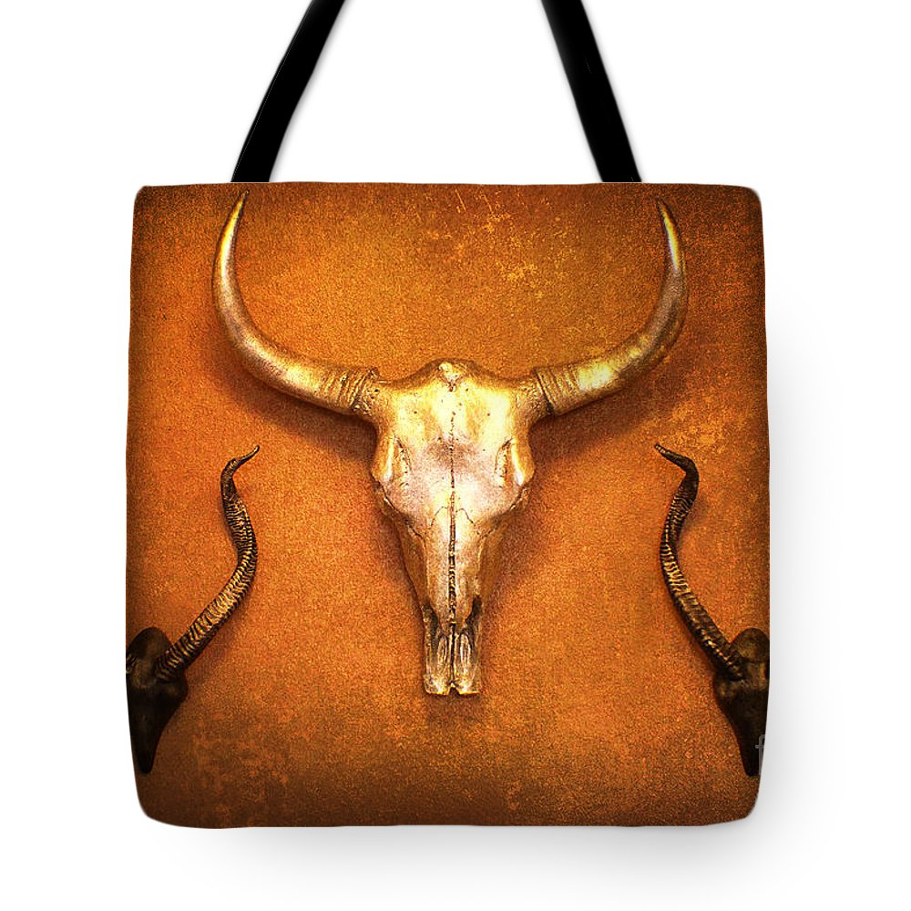 Antlers Tote Bag featuring the photograph Southwest Exotic Style Wall Art by Ella Kaye Dickey