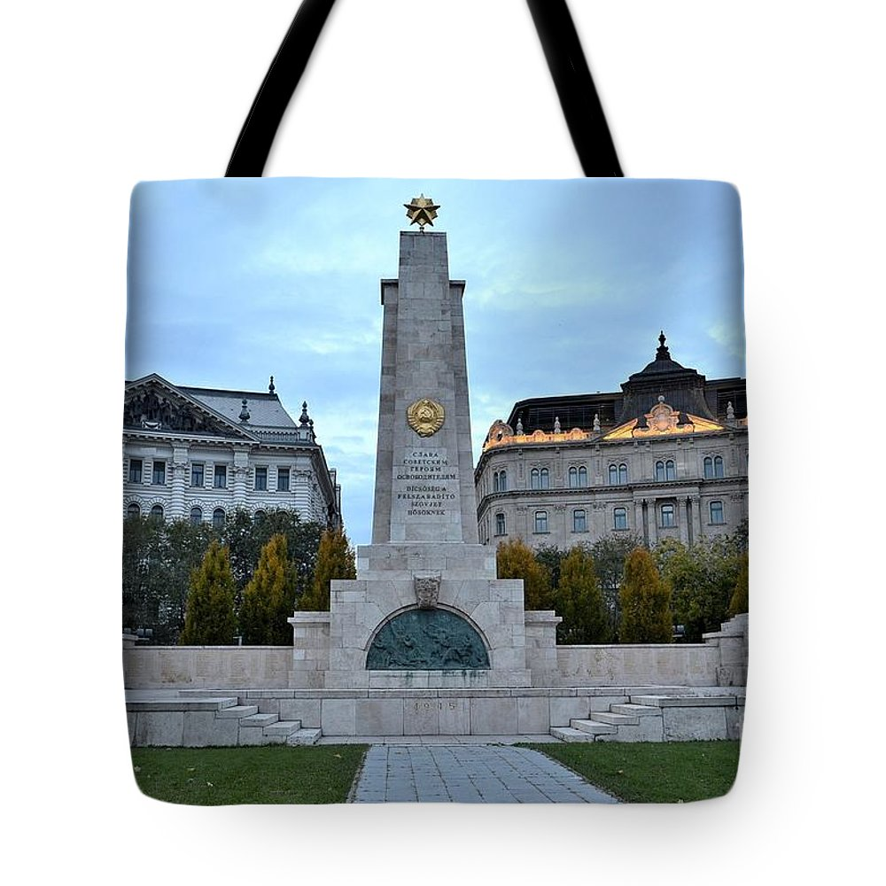 Soviet Union Tote Bag featuring the photograph Soviet Red Army Monument Budapest Hungary by Imran Ahmed