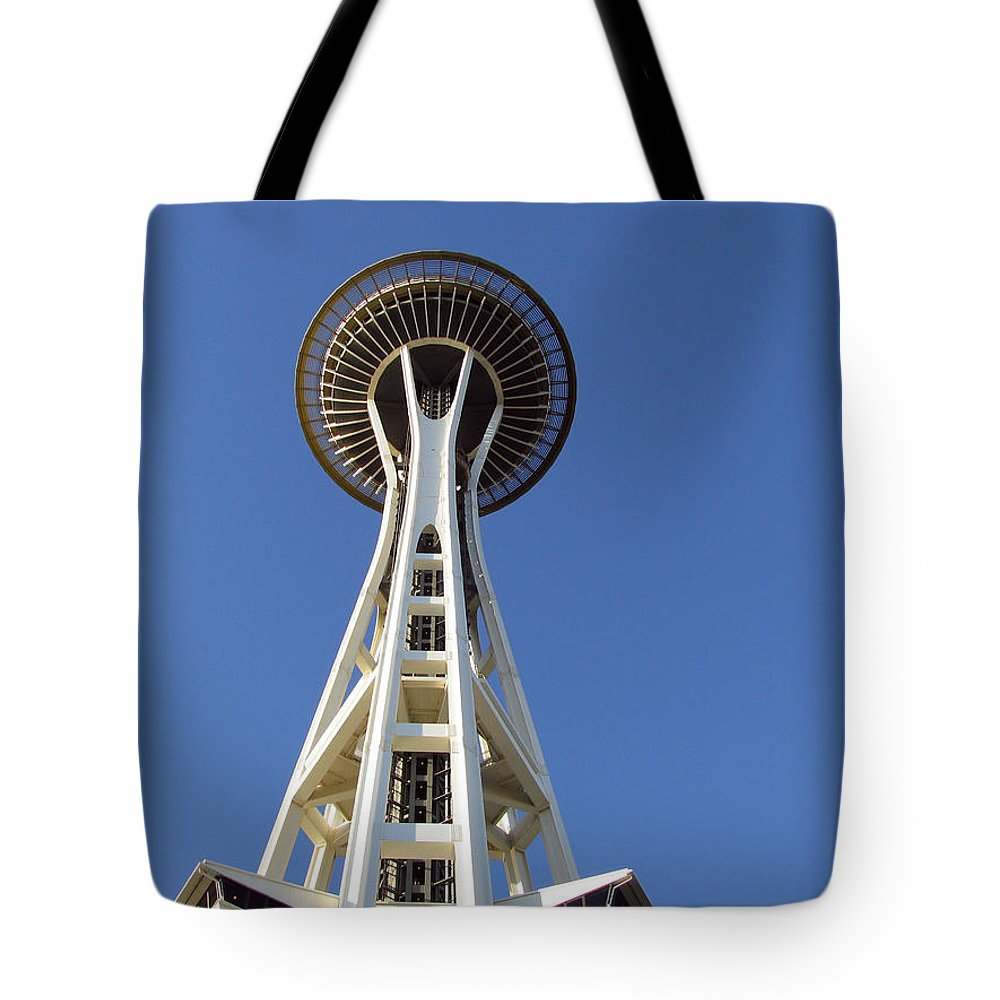 Landscape Tote Bag featuring the photograph Space Needle by Wayne Enslow