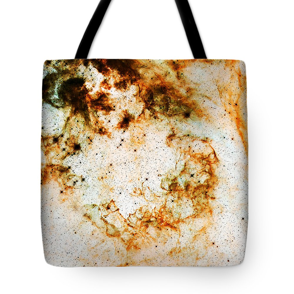 Nebula Tote Bag featuring the photograph Space Rust by Jennifer Rondinelli Reilly - Fine Art Photography